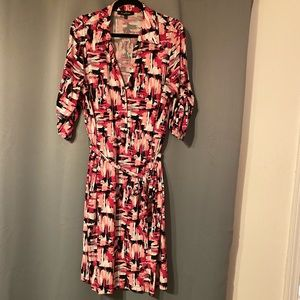 Evan-Picone Collared Button Up Dress Size XL